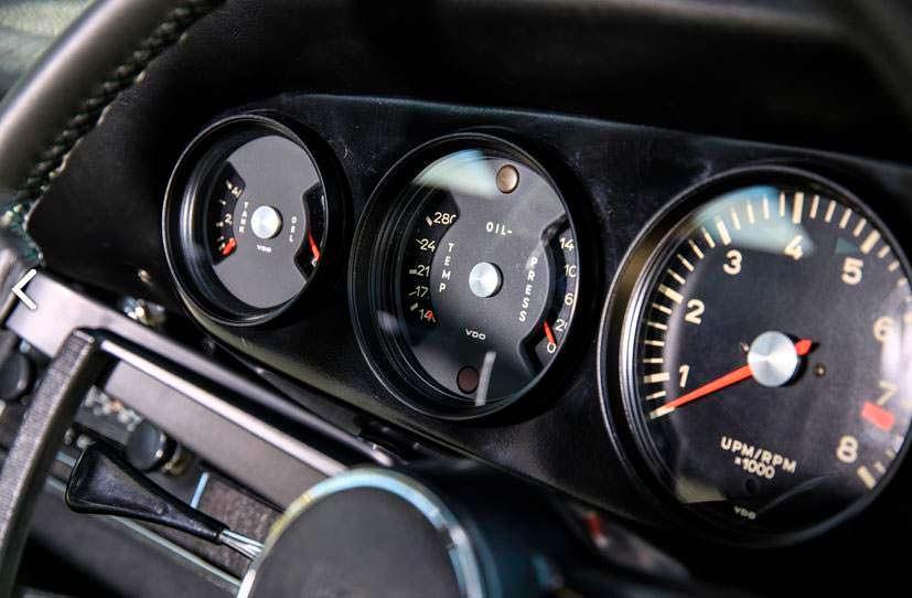 Приборная панель Porsche 911S 1967 года выпуска