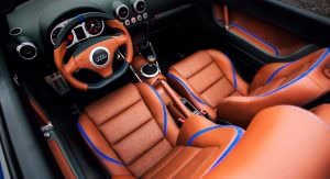 Коричневая кожа в салоне Audi TT Roadster 1998 года выпуска
