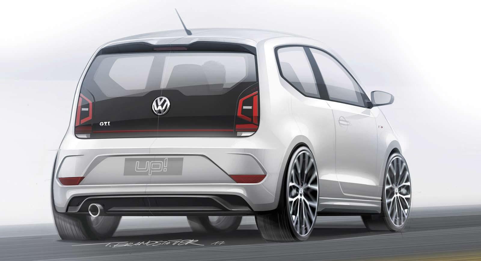 Наброски дизайна Volkswagen Up! GTI