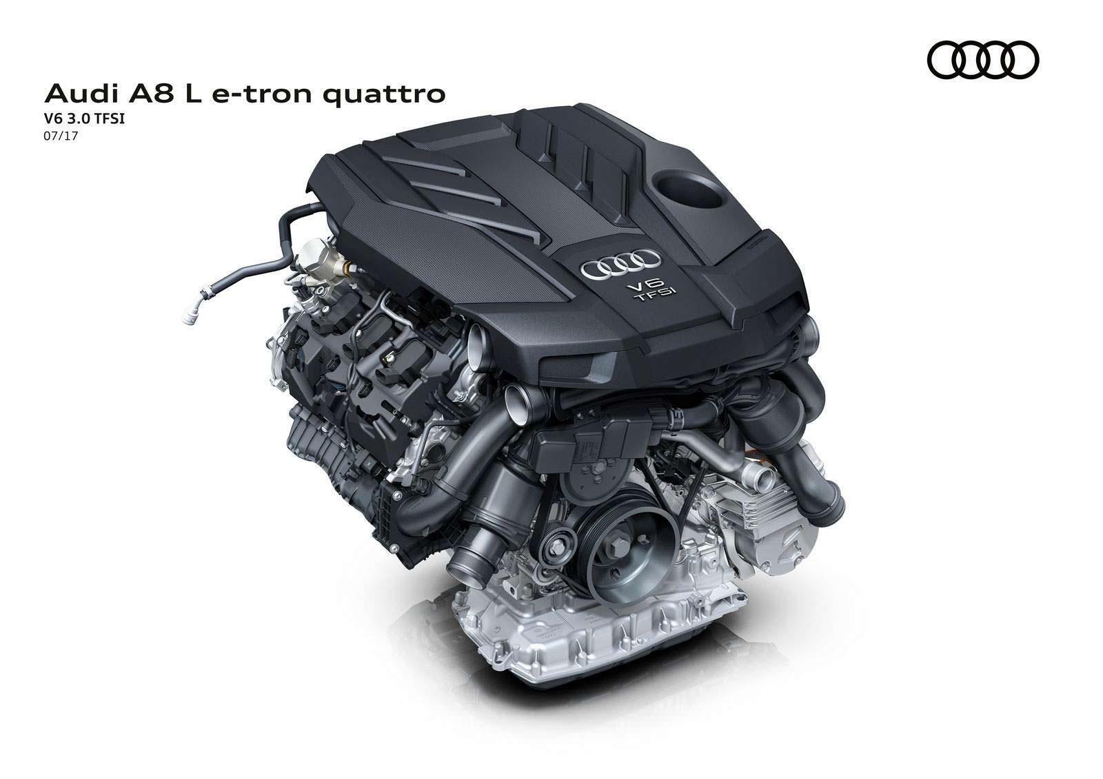 Гибридная силовая установка Audi A8 L e-tron quattro