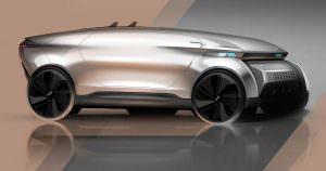 Концепт Audi E-Tron Imperator. Дизайн Frederic Le Sciellour