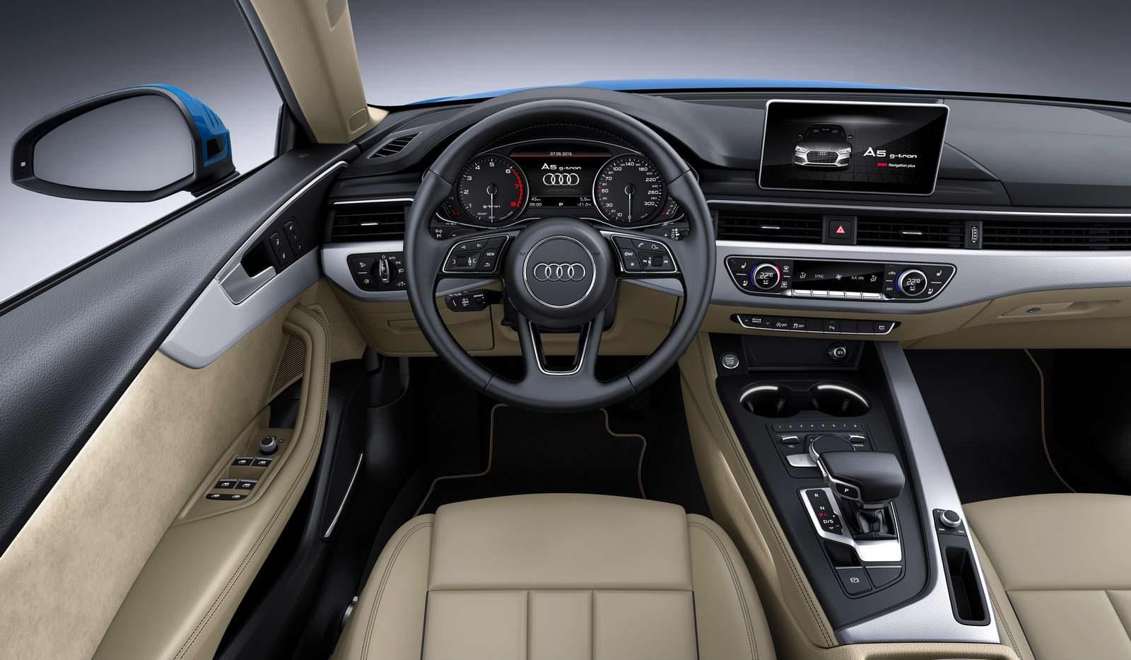 Кожаный интерьер Audi A4 Avant G-Tron