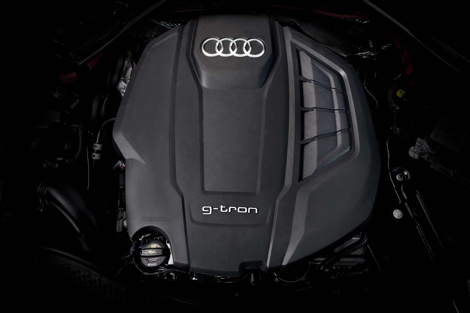 Двигатель 2.0 TFSI на газу под капотом Audi A5 Sportback G-Tron