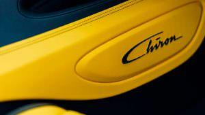 Жёлто-чёрный салон Bugatti Chiron