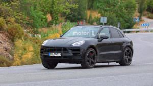 Рестайлинговый кроссовер Porsche Macan 2018 на испытаниях