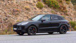 Рестайлинговый Porsche Macan 2018 на испытаниях