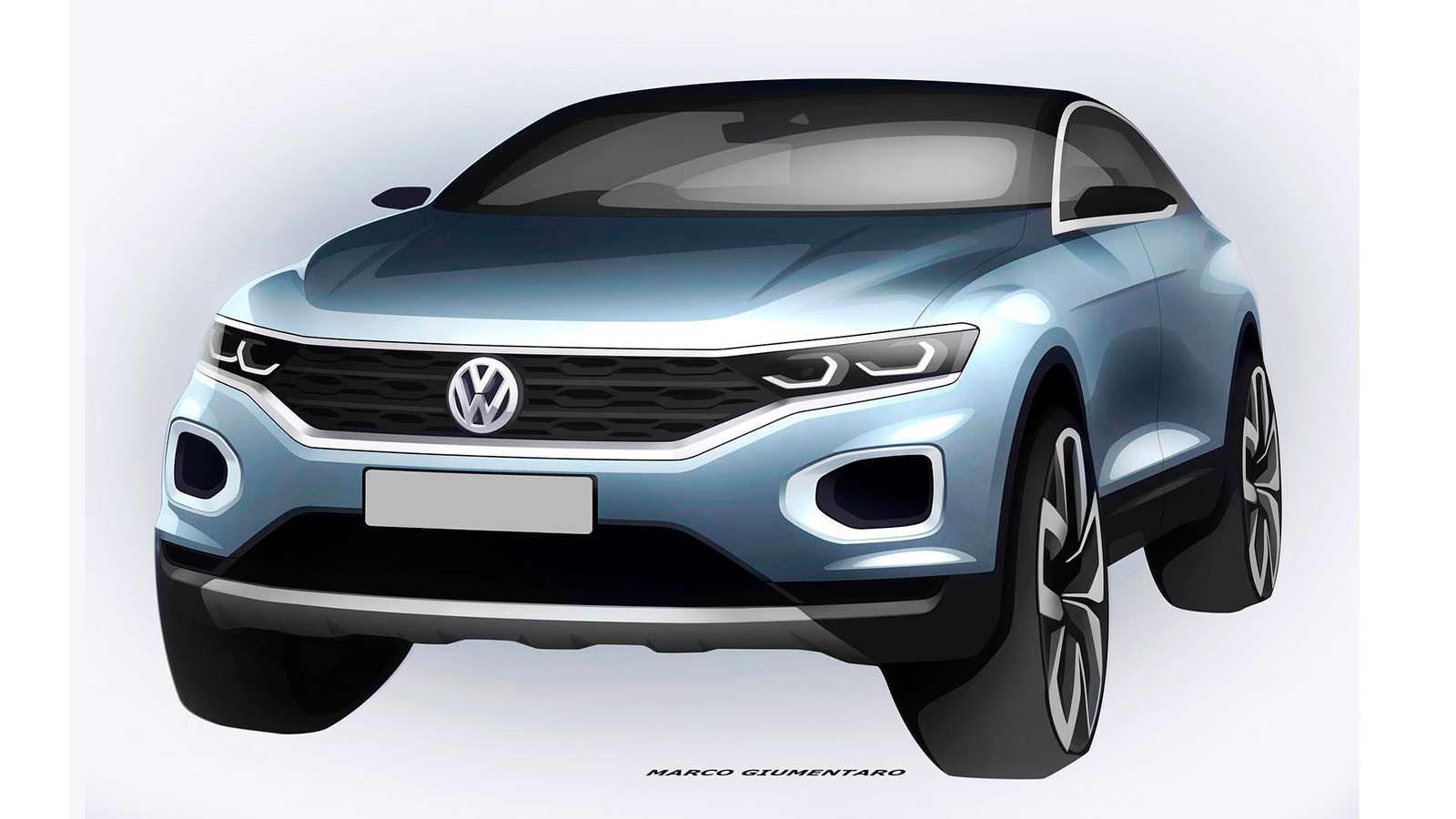 Официальный скетч Volkswagen T-Roc 2018