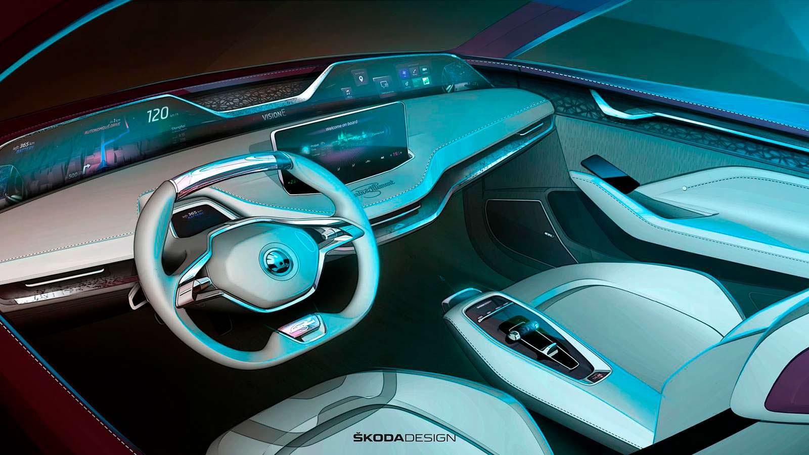 Тизер салона Skoda Vision E Concept #2