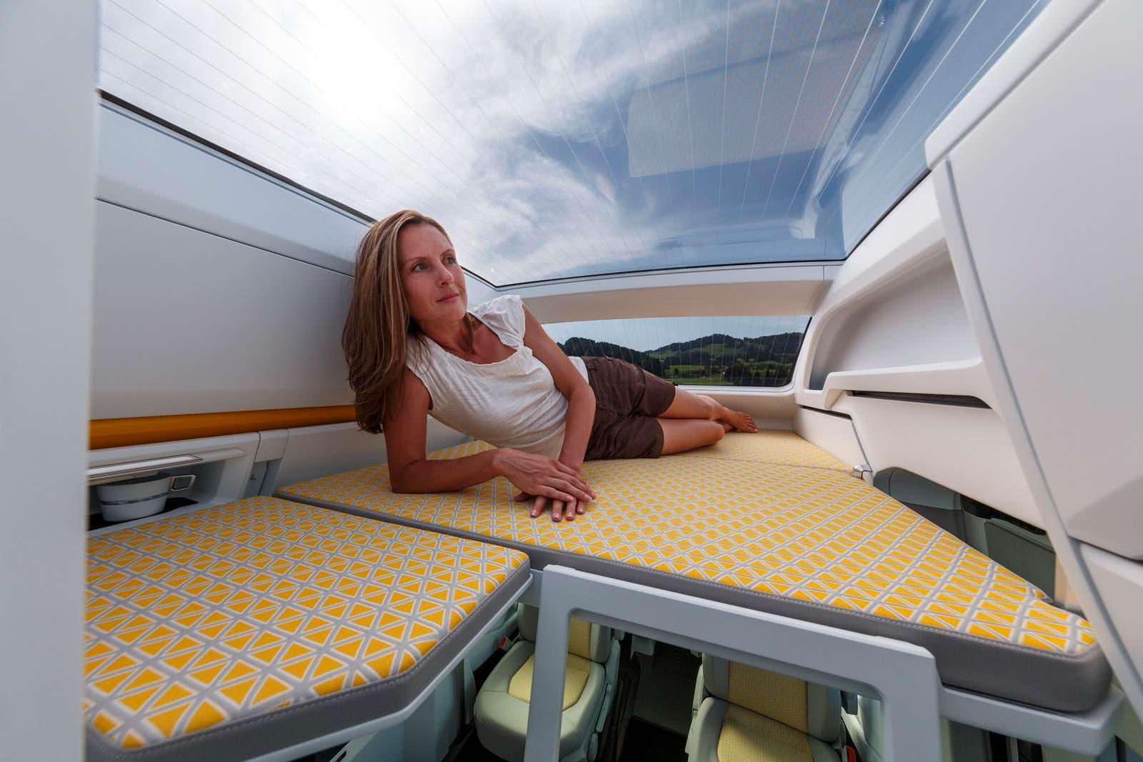 VW California XXL: разные конфигурации кровати на втором ярусе