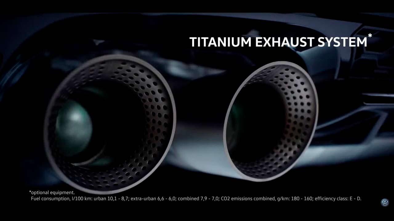 Титановый выхлоп Akrapovic Performance Pack для VW Golf R
