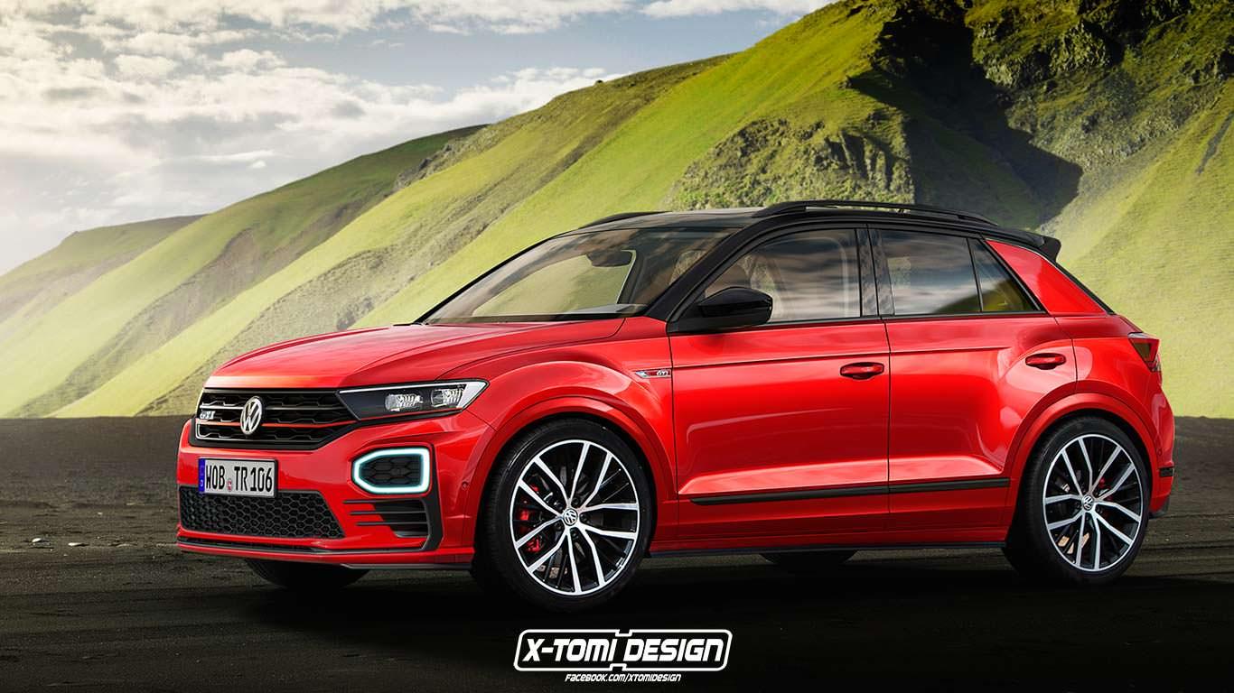 Фото   Volkswagen T-Roc GTI, неофициальный дизайн