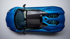 Lamborghini Aventador S Roadster 2018: вид сверху