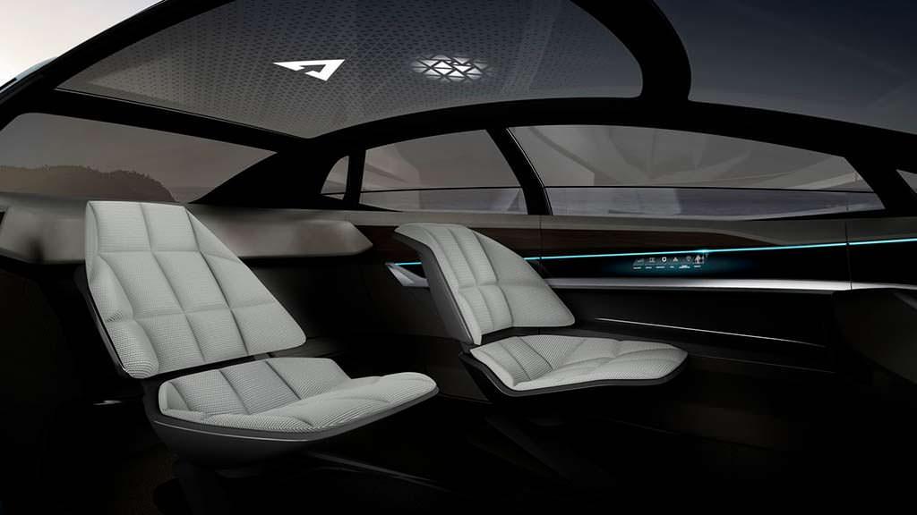 Фото салона без руля и педалей Audi Aicon Concept