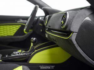Люминесцентный желтый салон Audi RS3 от Neidfaktor