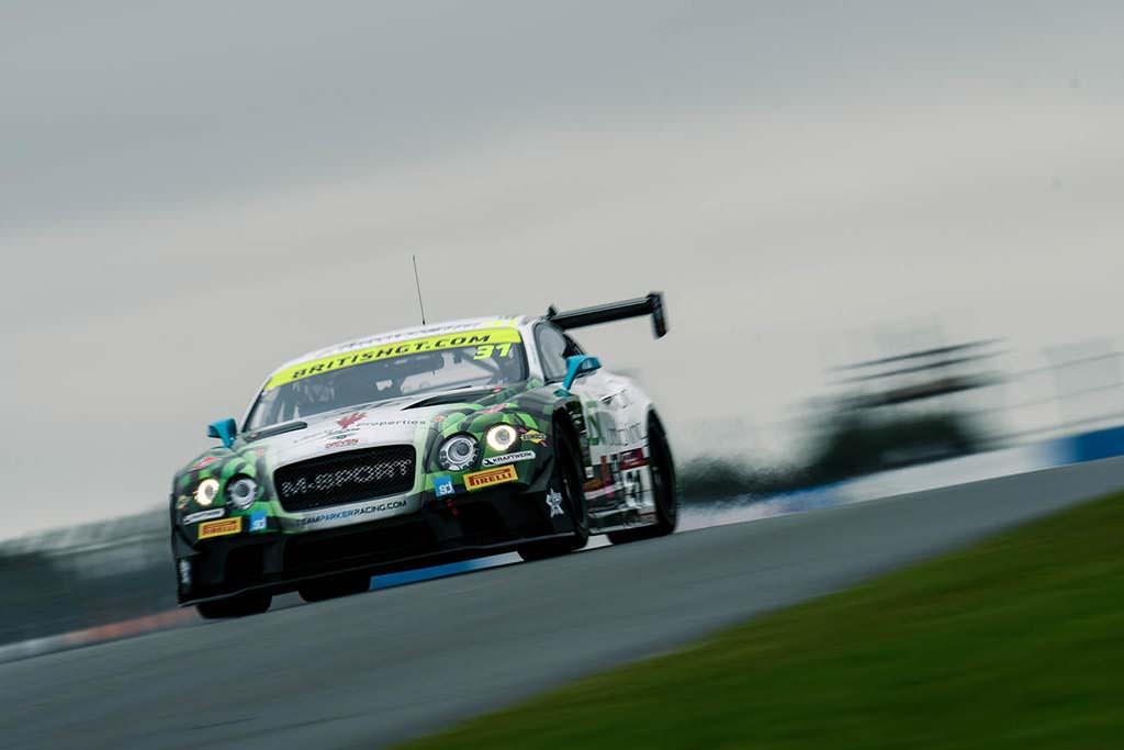 Гоночный Bentley Continental GT3 команды Team Parker Racing