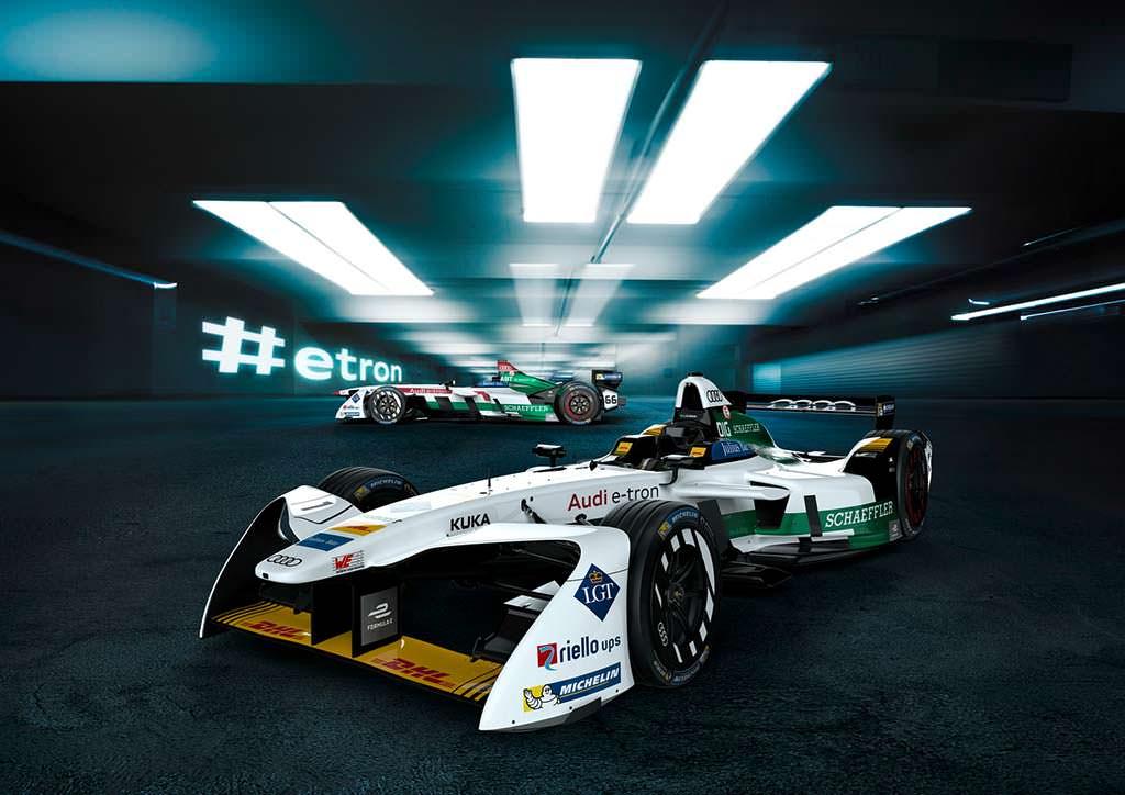 Болид Audi E-Tron FE04 для гонок Formula E
