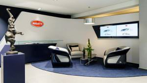 Дилерский центр Bugatti в Гамбурге, Германия. 12-й в Европе