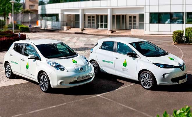 Современные электрокары Renaul и Nissan