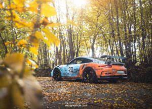 Porsche 911 GT3 RS. Кузов с эффектом состаривания