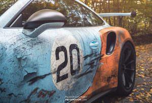 Porsche 911 GT3 RS с эффектом ржавого кузова