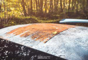 Porsche 911 GT3 RS с эффектом ржавой крыши