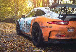 Porsche 911 GT3 RS Gulf Racing с эффектом состаривания