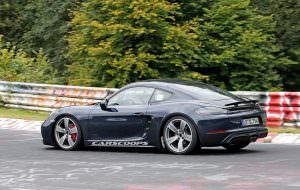 Шпионские фото Porsche 718 Cayman GTS в Нюрбургринге