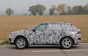Закамулфированная Audi Q3 на дорожных испытаниях в Европе