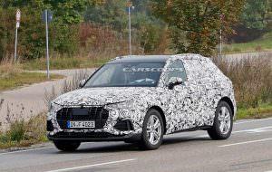 Кроссовер Audi Q3 второго поколения на дорожных испытаниях