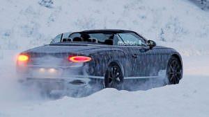 Зимние тесты 2019 Bentley Continental GTC
