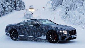 Снежные тесты Bentley Continental GTC нового поколения