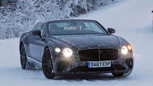 Зимние тесты кабриолета Bentley Continental GTC 2019