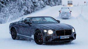 Прототип кабриолета Bentley Continental GTC 2019 в камуфляже