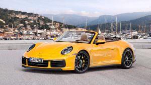 Новая Porsche 911 Cabrio, неофициальный дизайн от Motor1.com