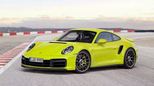 Новая Porsche 911 Turbo, неофициальный дизайн от Motor1.com