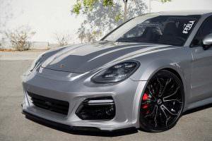 Серая Porsche Panamera в обвесе TechArt GT