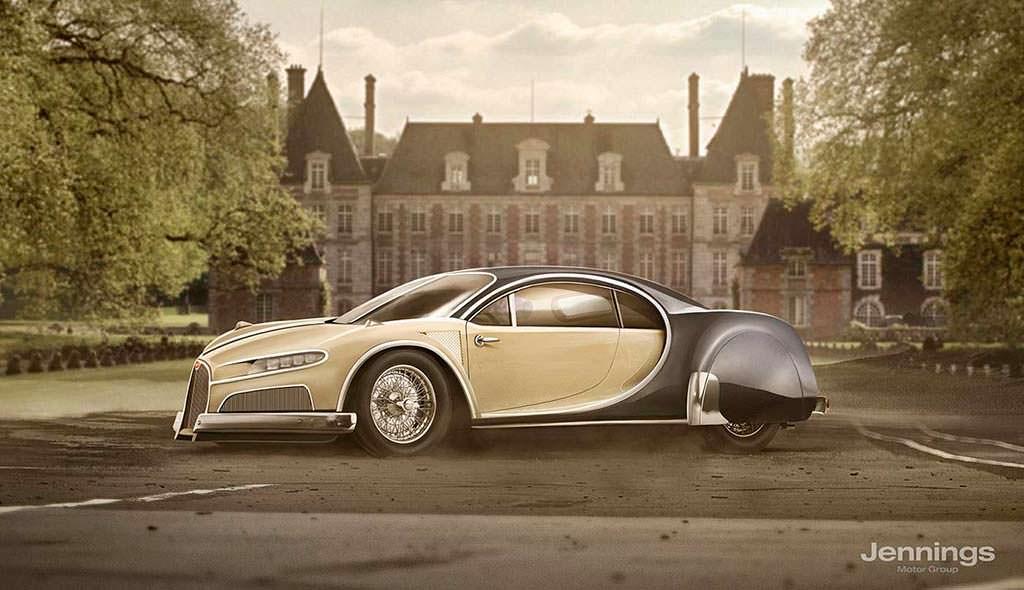 Ретро-дизайн Bugatti Chiron