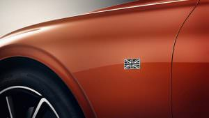 Union Jack на крыльях Bentley Continental GT First Edition