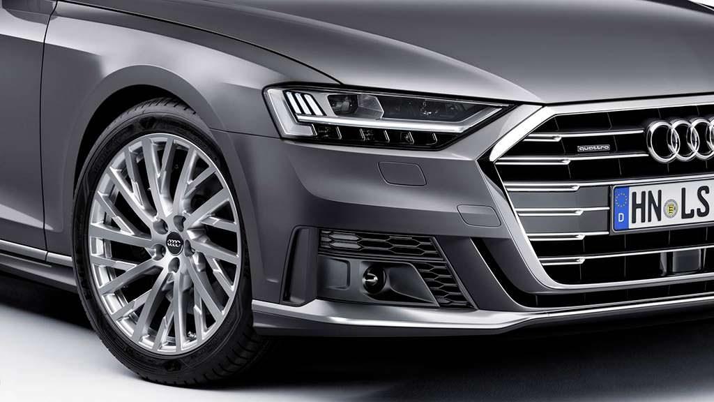 Измененный бампер Audi A8 из набора Sport Package