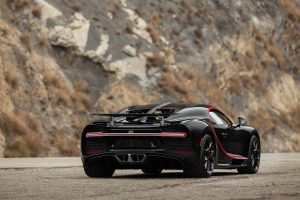 Чёрный Bugatti Chiron