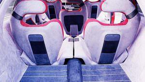 Пятиместный салон Lamborghini Genesis от Bertone. 1988 год