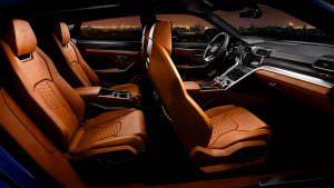 Четырёхместный салон Lamborghini Urus 2018