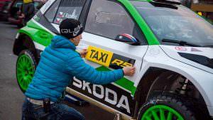 Ралли-такси Skoda Fabia R5