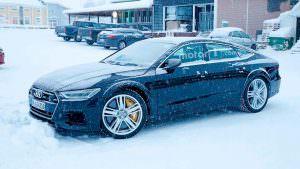 Мул Audi RS7 Sportback 2019 на зимних тестах