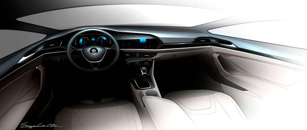 Эскизы салона Volkswagen Jetta нового поколения