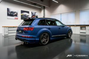Матовый синий Audi SQ7 от ABT Sportsline и Vossen Wheels