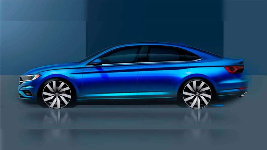Тизер 2018 Volkswagen Jetta нового поколения