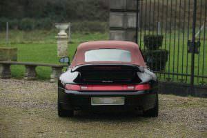 Чёрный Porsche 993 Turbo Cabriolet 1995 года