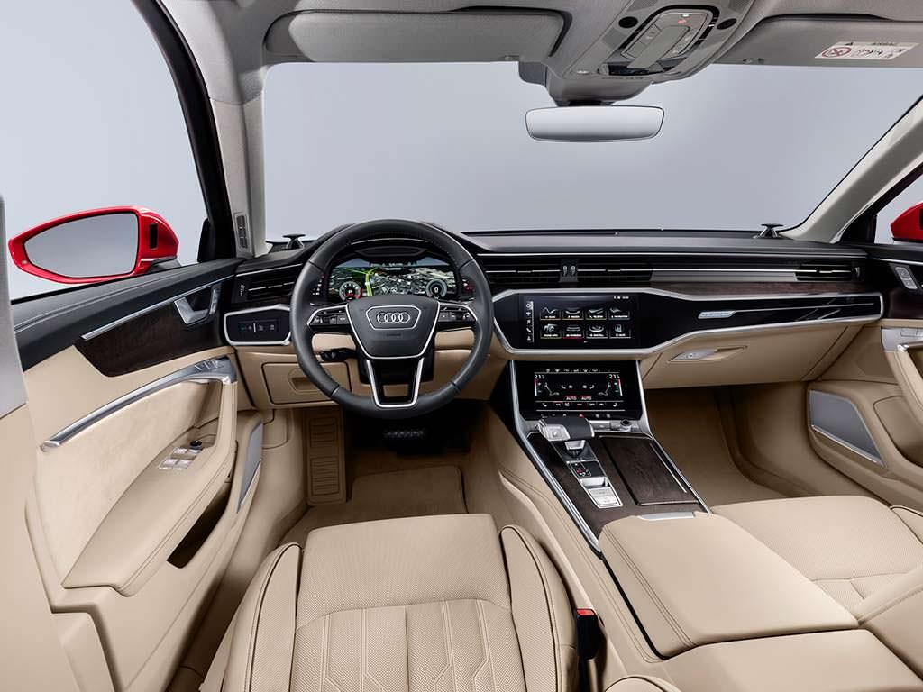 Фото салона Audi A6 нового поколения
