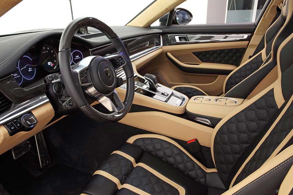Отделка внутри Porsche Panamera Turbo S E-Hybrid от TopCar